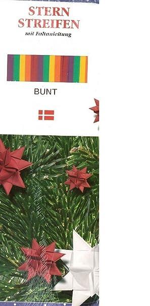 Fröbel Stern Streifen Mit Faltanleitung 25mm Bunt Für 10 Sterne Weihnachten Basteln Advent