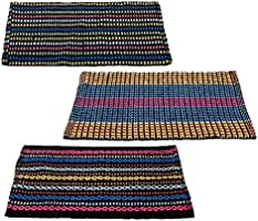 "Story@Home Traditional Style Cotton Blend 3 Piece Door Mat Set - 16""x24, Multicolour"