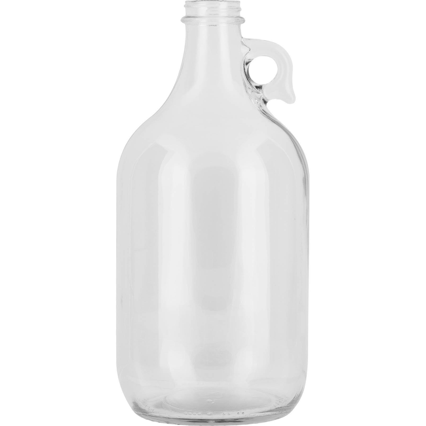 The Cary Company 30W64G 1/2 gal Glass Beer Growlers, 64 oz., Clear (Pack of 6)