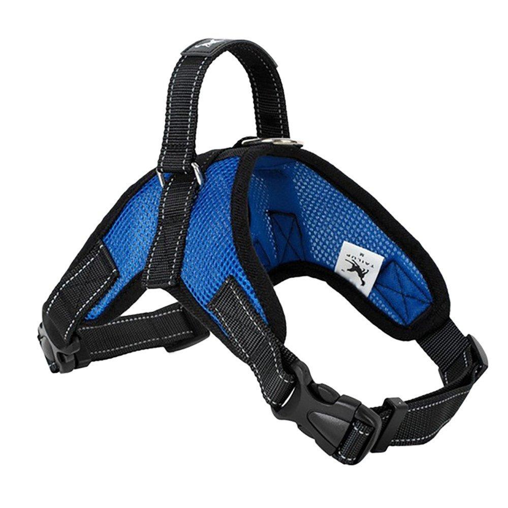 succeedtop Pet Big Dog Chest Straps TAILUP Pet Dog Leads Chest Straps Large Pet Adjustable Comfortable Outdoor Soft Breathable Dog Pet Vest (S,fit Under 22Ib, E)