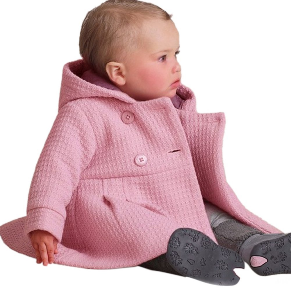 b3a45e44b61 Amazon.com  Weixinbuy Baby Toddler Girl s Solid Outwear Spring Winter Coat  Hoodie  Clothing