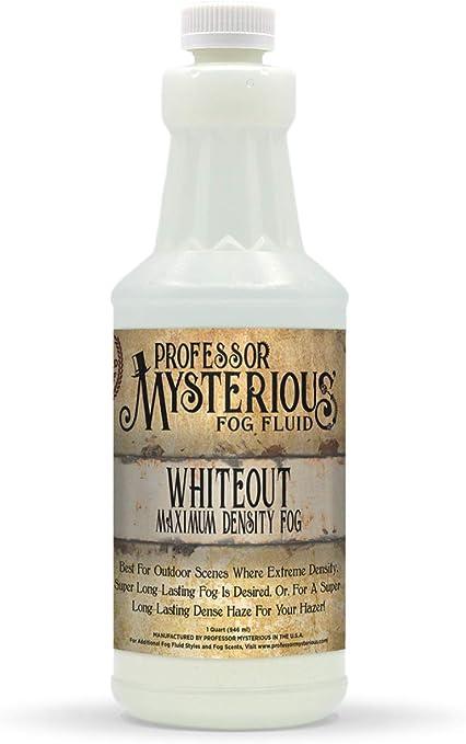 Professor Mysterious Whiteout líquido para máquina de niebla, cuarto de galón