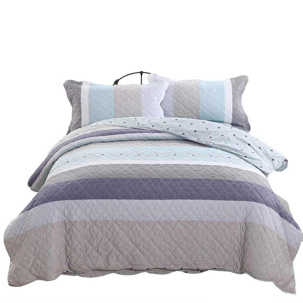 スリーピース寝具セットプリントキルティングベッドカバーダブルベッドヨーロッパスタイルの綿220 * 240 cm B07T64NZWY