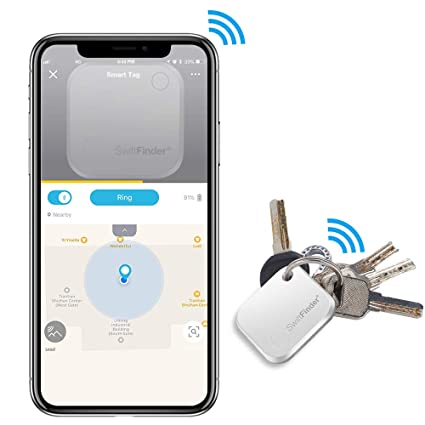 Key Finder, Key Locator Bluetooth -Tracker Device with App Control for iPhone, Slim