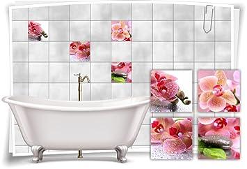 Medianlux Fliesenaufkleber Fliesenbild Blumen Orchidee Spa Wellness ...