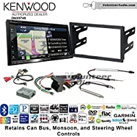Volunteer Audio Kenwood DNX574S Double Din Radio Install Kit with GPS Navigation Apple CarPlay Android Auto Fits 2002 Volkswagen Golf, 2002 Jetta, 2002 Passat with Amplified Systems