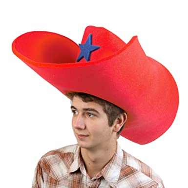 Amazon.com  Clown Antics Super Size 50 Gallon Cowboy Hats - Red (28 ... 058176fe92d6