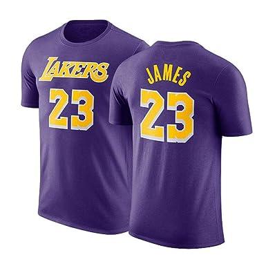 GXFC NBA Playera L.A Laker James # 23 Playera de Baloncesto de ...