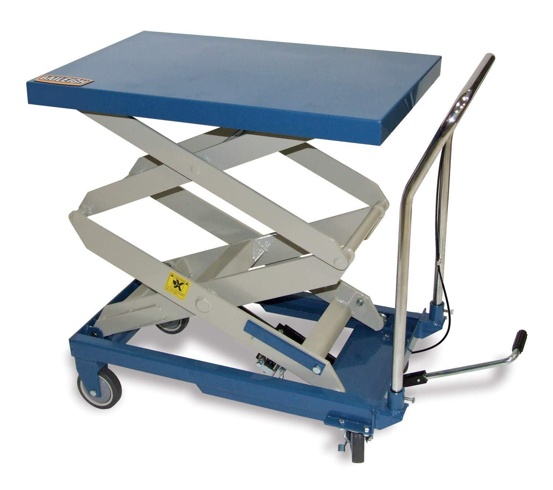 Baileigh Double Lawn Mower Arm Hydraulic 660 lbs Lift Cart Table