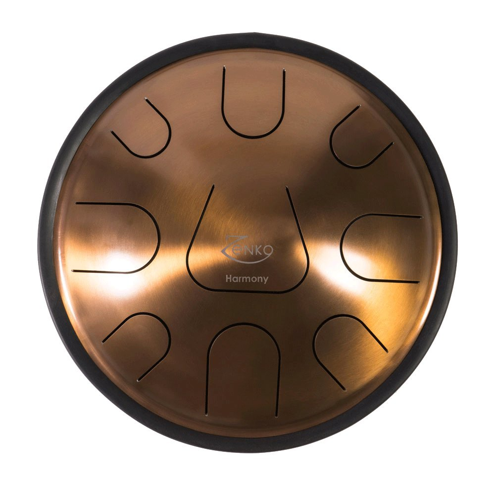 ZENKO HARMONY - Steel Tongue Drum - 9 tones - Intuitive musical instrument - Deluxe gig bag, support and mallets included