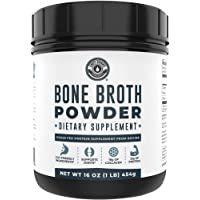 Bone Broth Protein Powder Pure Grass Fed Beef - Unflavored. Rich in Collagen, Glucosamine & Gelatin, Paleo Protein…