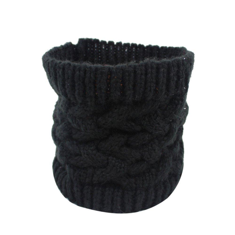 FOANA Donna Uomo inverno caldo infinito cavo lana collo a maglia collo cappuccio scialle sciarpa scialle unisex di lana Colletto in maglia Beige)