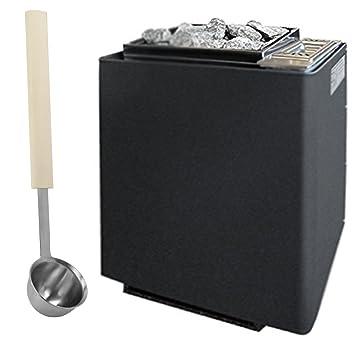Horno para sauna EOS Bi-O Mat W 9 kW, antracita de perlado ...