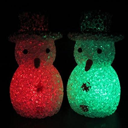 LED que cambia de colores de Navidad muñeco de nieve de luces lámpara para fiesta habitación