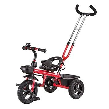 Bicicleta para niños, carrito de bebé para bebés Triciclo para niños Car Bicycle Trolley (Color : Rojo) : Amazon.es: Deportes y aire libre