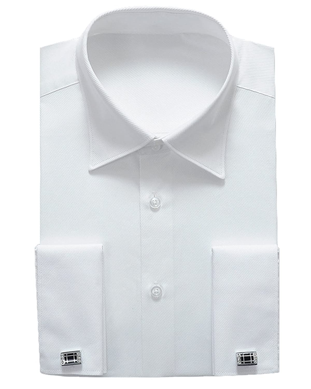 Alimens & Gentle French Cuff Regular Fit Dress Shirts (Cufflink included)  (16.5