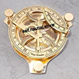 Sundial Compass Vintage Brass Sundial Antique Sundail Replica Gift