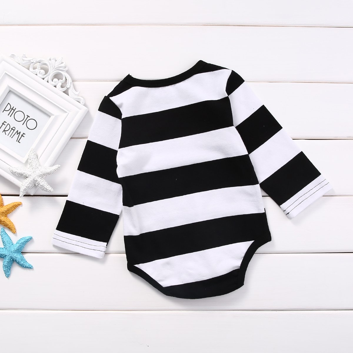 Baby Infant Girls Boys Striped Long Sleeve Romper Jumpsuits Bodysuits One Piece