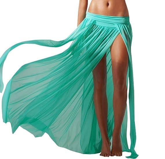 42ca0d14a5 Amazon.com  DXNONA Sexy Mesh Maxi Bohemian Skirt Cool Swimwear Dress ...