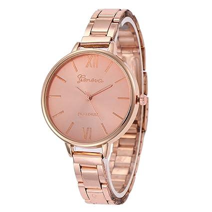 Ocamo Reloj de cuarzo para mujer con correa fina de acero inoxidable, diseño de números