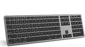 Multi-Device Bluetooth Keyboard for Mac OS,seenda Aluminum Mac Rechargeable Wireless Keyboard for MacBook,MacBook Air,MacBook Pro,iMac and iMac Pro,Computer,Laptop,Desktop