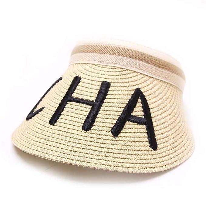 TWIFER Sombrero de Paja vacio Hombre Mujer, Unisex Sombreros De ...
