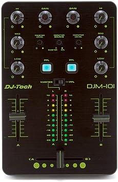 DJ TECH DJM-101 - Mesa de mezclas (2 canales): Amazon.es: Electrónica