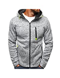MIOIM Mens Basic Zip up Hoodie Warm Sports Casual Sweatshirt Outwear Coat