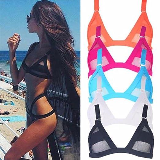 92e9cee422 Amazon.com  Kiwi-Rata Sexy Women Bikini Set Bandage Push-Up Padded Swimwear  Swimsuit Bathing Beachwear  Clothing