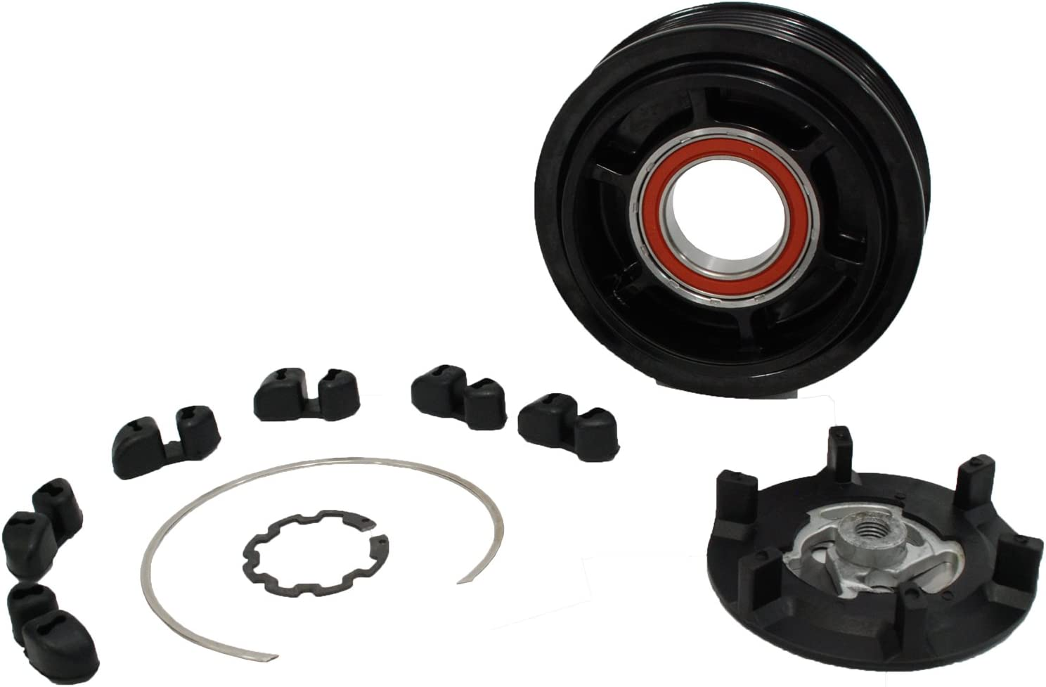 NEW A//C Compressor Clutch kit for Mercedes Models 7SEU17C with 6 GROOVE PULLEY