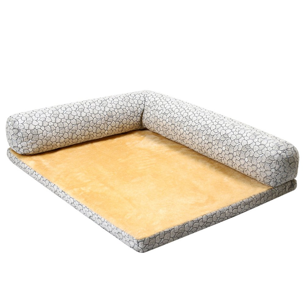 B 736018cm 29247in B 736018cm 29247in ANHPI Doghouse Cat Litter Mats Washable Small Medium-sized Large Dog Winter Warm Dog Bed Pet Sofa,B-73  60  18cm 29  24  7in