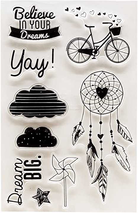 Sellos para manualidades con motivos de bicicleta, nube ...