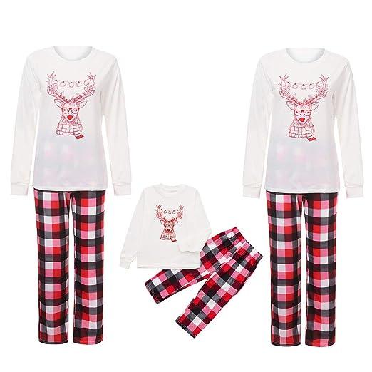 d24aae01cc Family Christmas Pajamas Xmas Pajamas Sets Outfit Elk Print Matching Family  PJS Boys Girls Kids Baby