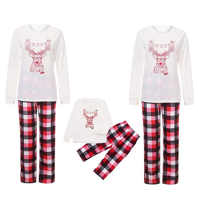 45d65c100 Matching Family Pajamas Set Christmas Holiday Elk Print PJs with ...
