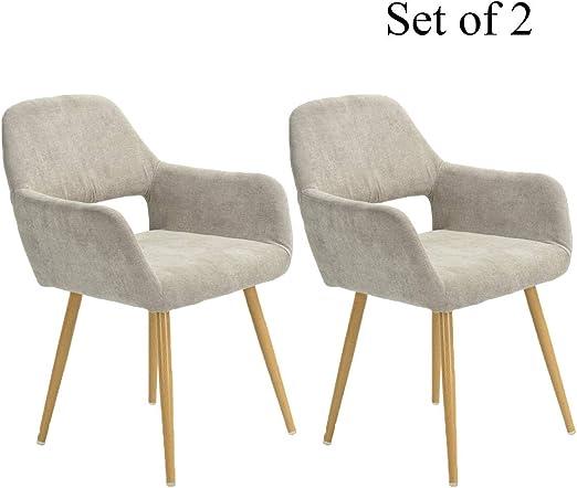 Amazon.com: HOMY CASA - Juego de 2 sillas de comedor con ...