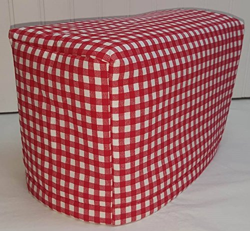 2 or 4 Slice Toaster Cover (4 Slice, Red & White Checked)