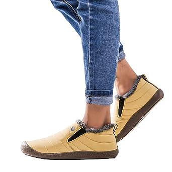 Amazon.com: Binmer Mens Non-Slip Plus Velvet Warm Cotton Shoes Snow Boots Booties Plush Shoes: Clothing