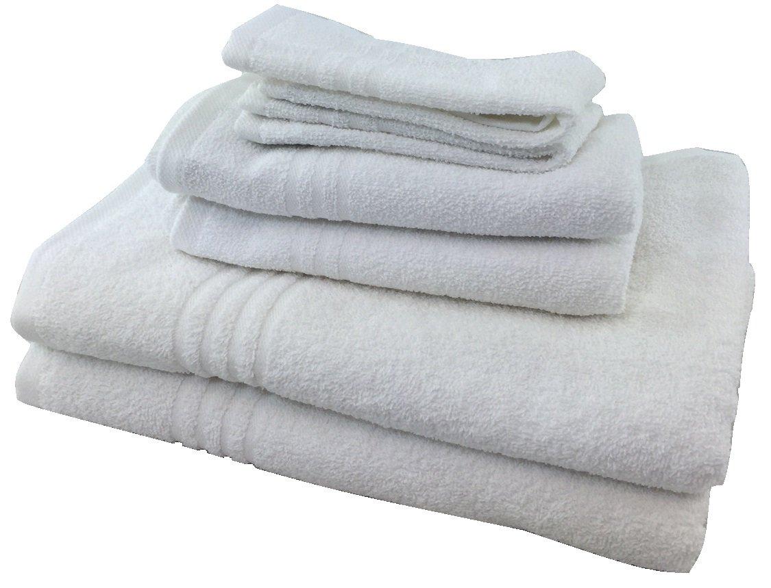 Metro 100% Cotton 6-piece Basic Towel Set (White)