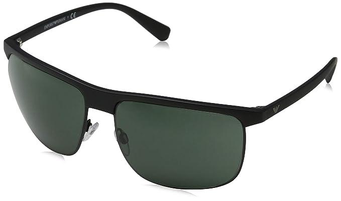 ee9209e5fd8 Image Unavailable. Image not available for. Color  Emporio Armani sunglasses  (EA-4108 504271) Matt Black - Matt Gun - Grey
