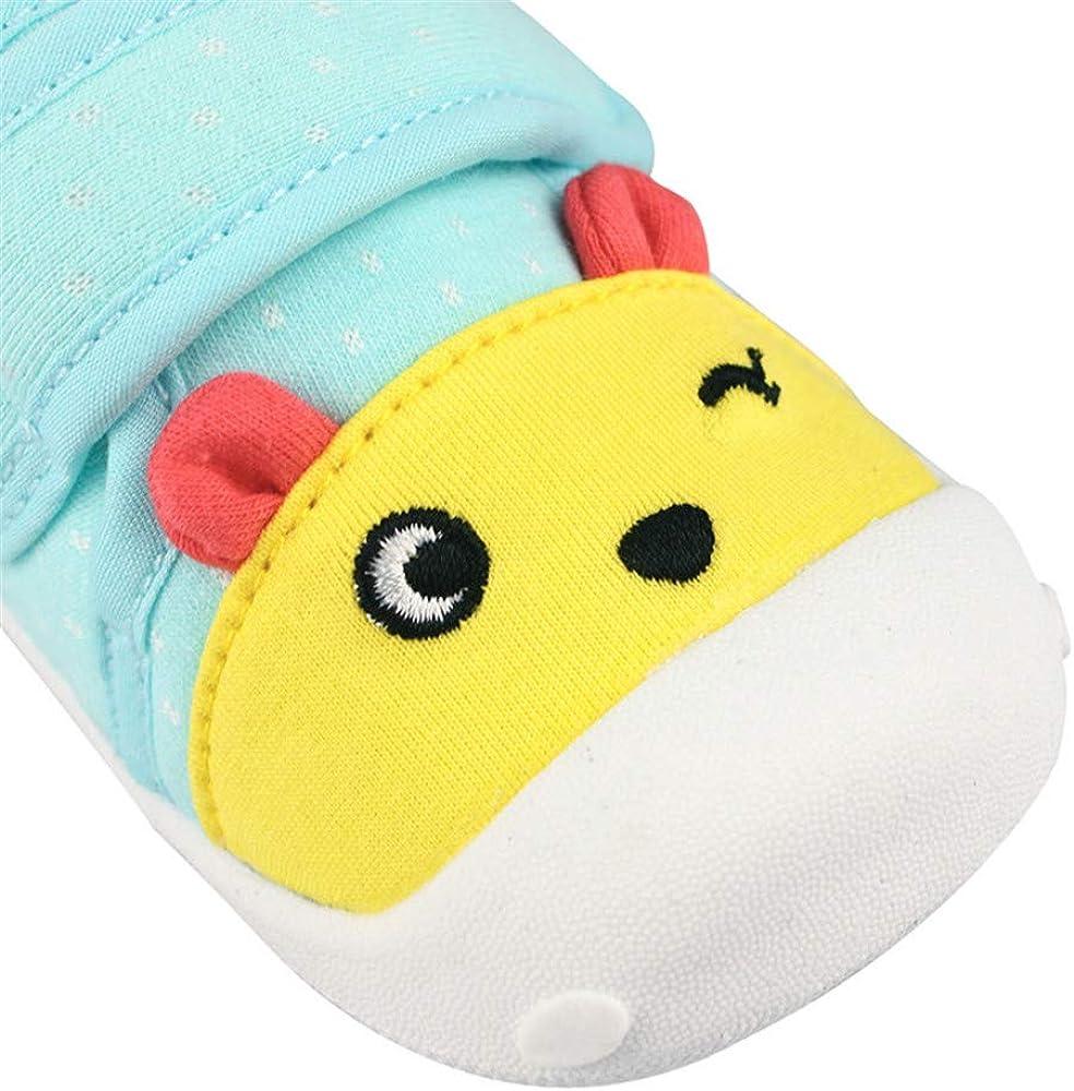 Unisex Baby Boys Girls First Walkers Cute Cartoon Sneaker Toddler Basic Shoes Infant Trainer Anti-Slip Prewalkers Shoes