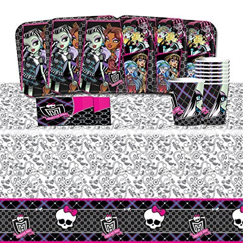 Monster High Complete Birthday Tableware Pack for 16 -