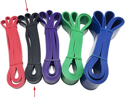 Fitness Pull Rope Latex Resistance Band Cable Gym Workout Sports Equipment //Neu