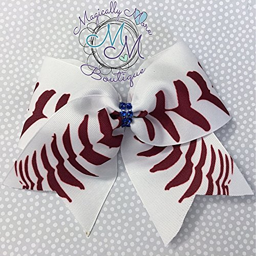 baseball and softball Hair bow, Handmade for toddlers, girls, tween, teens, and women outfit of choice -