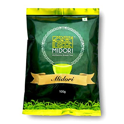 Té verde de hojas enteras por Midori – 3,5 oz – un minuto de ...