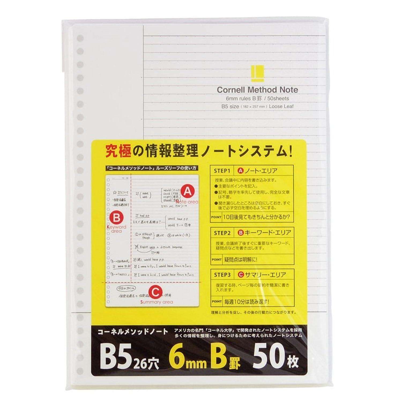 コクヨ Campus ルーズリーフ さらさら書ける 5mm方眼罫 A5 60枚 ノ-807S-5