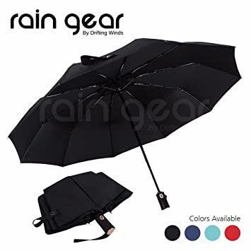 36a929173765 Rain Gear: Premium Quality Umbrella Windproof, Small, Light n Compact  Umbrella, Easy Folding, Automatic Open/Close with Carrying Pouch. Most  Ideal as ...
