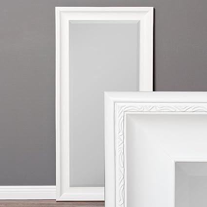LEBENSwohnART Specchio da Parete, 100 x 50 cm, Cornice in Legno ...