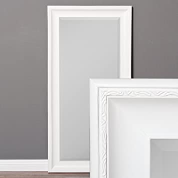 Weisser Spiegel 100 X 50 Cm Wandspiegel Barock Weiß Copia Holzrahmen