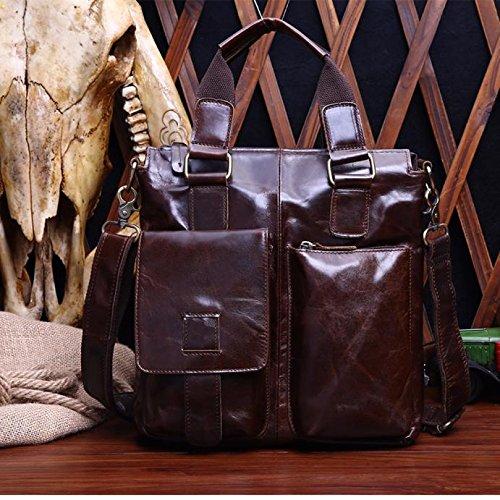 Travel bag,HoshellBuffalo Leather Messenger Satchel Laptop Briefcase Men's Bag We can arrive in 2 to 3 days
