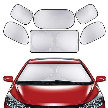 Yinuoday Sonnenschutz f/ür das Auto Sonnenschutz 6 St/ück f/ür das ganze Fenster Sonnenschutz Heckscheibe f/ür die Vorderseite